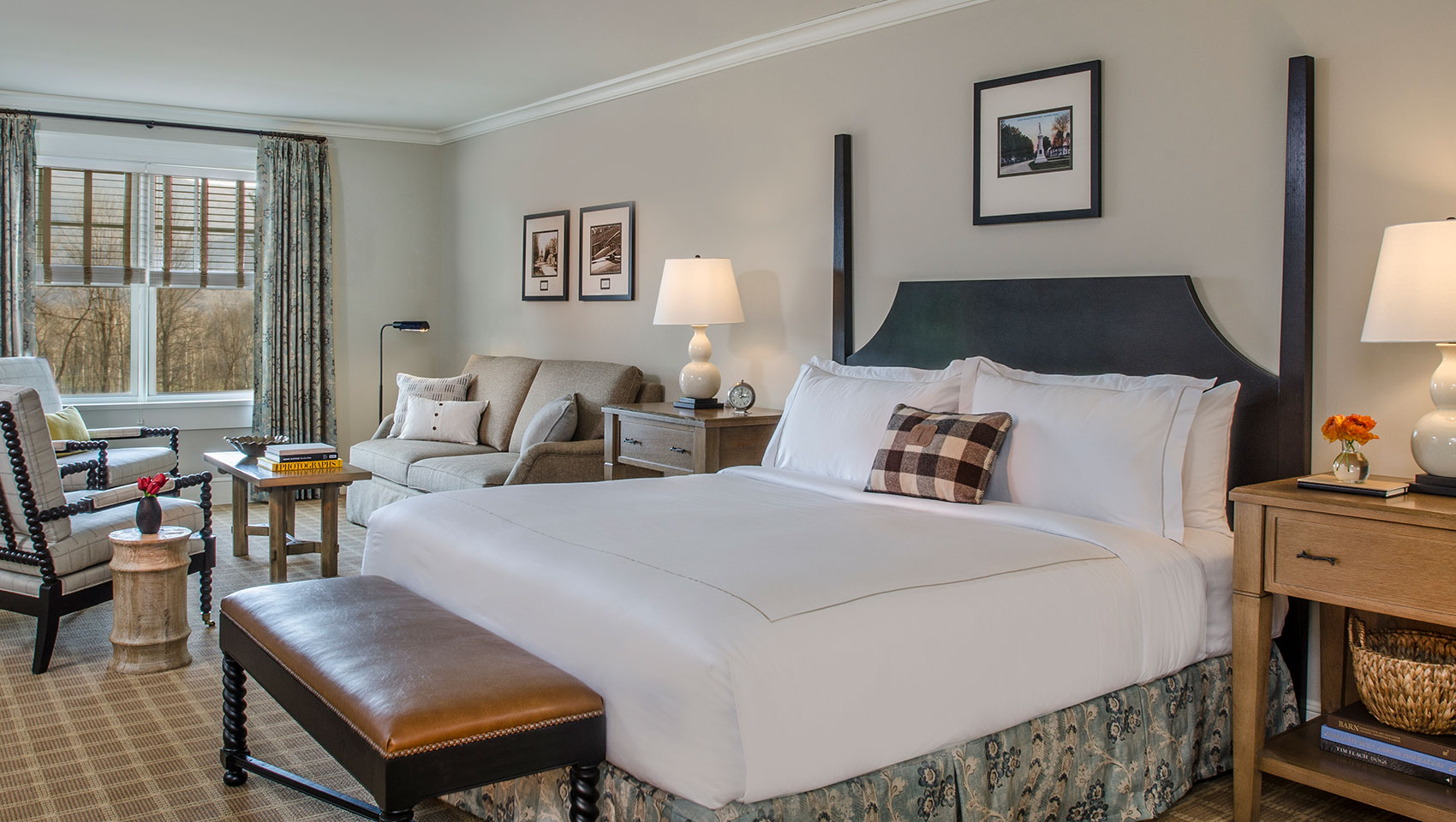 One bedroom suite at Taconic Hotel in Vermont