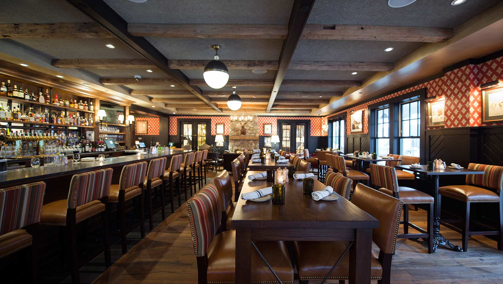 copper grouse bar and dining room at Kimpton Taconic Hotel