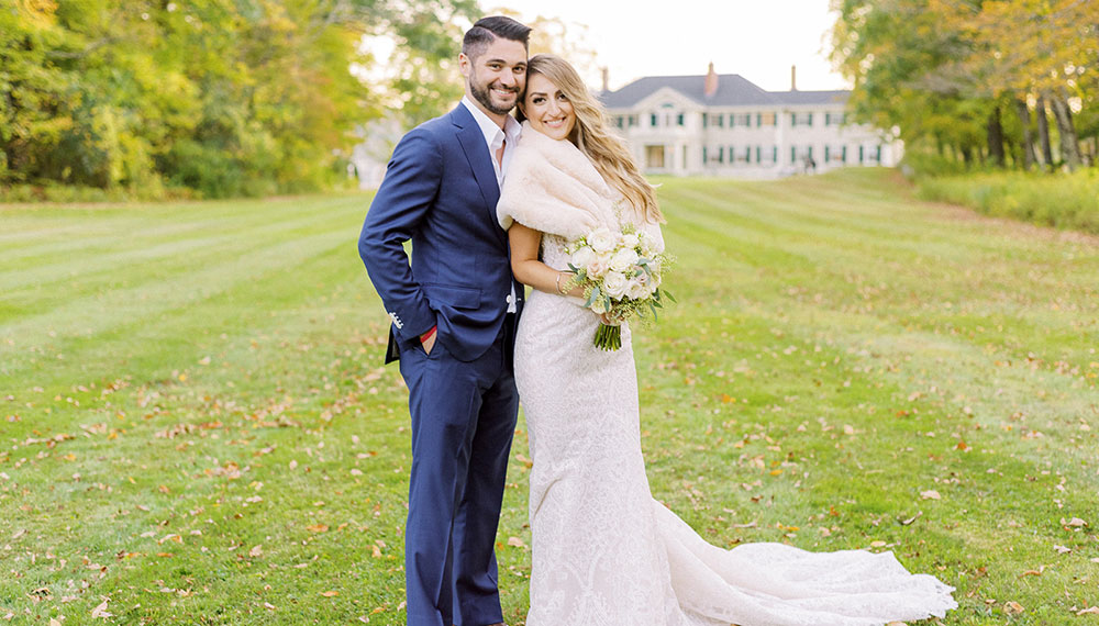 Bride and groom at Kimpton Taconic Hotel