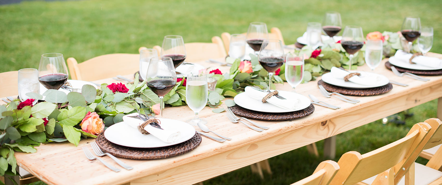 outdoor table set up